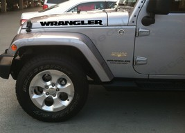 "Set of new style ""Wrangler"" Hood Truck Vinyl Stickers Decals_black color - $22.50"