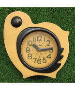Yellow Bird Deco Nice Vintage Alarm Clock SLAVA Soviet USSR 11 Jewels Wo... - $38.61