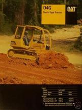 2003 Caterpillar D4G Crawler Tractor Brochure - Color - $13.00