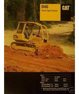 2003 Caterpillar D4G Crawler Tractor Brochure - Color - $13.00