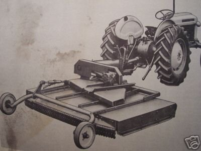 1961 Ford 906 Rotary Mower Operator's Manual