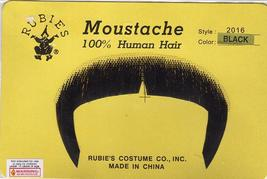 BLACK GREAT 70'S or ZAPATA HUMAN HAIR MUSTACHE - $10.00