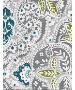 Tahari Mica Paisley Medallions Gray/Turquoise/White Shower Curtain - $36.00