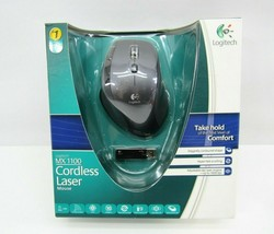 New Logitech MX 1100 Laser Cordless Wireless Mouse MX1100 Sealed  - $197.95