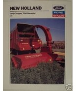 1989 New Holland 38 Crop Chopper Flail Harvester Brochure - $4.20