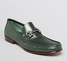 Salvatore Ferragamo Logo Giordano Calf Leather Gancini Bit Loafer Shoes New US11 - $594.99
