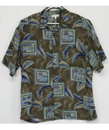 Pierre Cardin- Men's XL Button Up Hawaiian Shirt Palm Trees, Ocean (E10) - $32.73