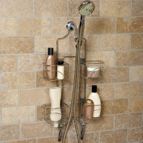 Chrome Expandable Shower Caddy Hand Held Holder Bathroom Storage Organizer Rack