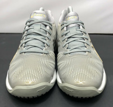 Asics Solution Speed FF Tennis Court Shoes Silver Gold Womens Size 6 Fast Ship  - $57.82