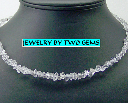 Jewelry By Two Gems (Wn49) Sterling Silver Necklace with Double Pointed Quartz
