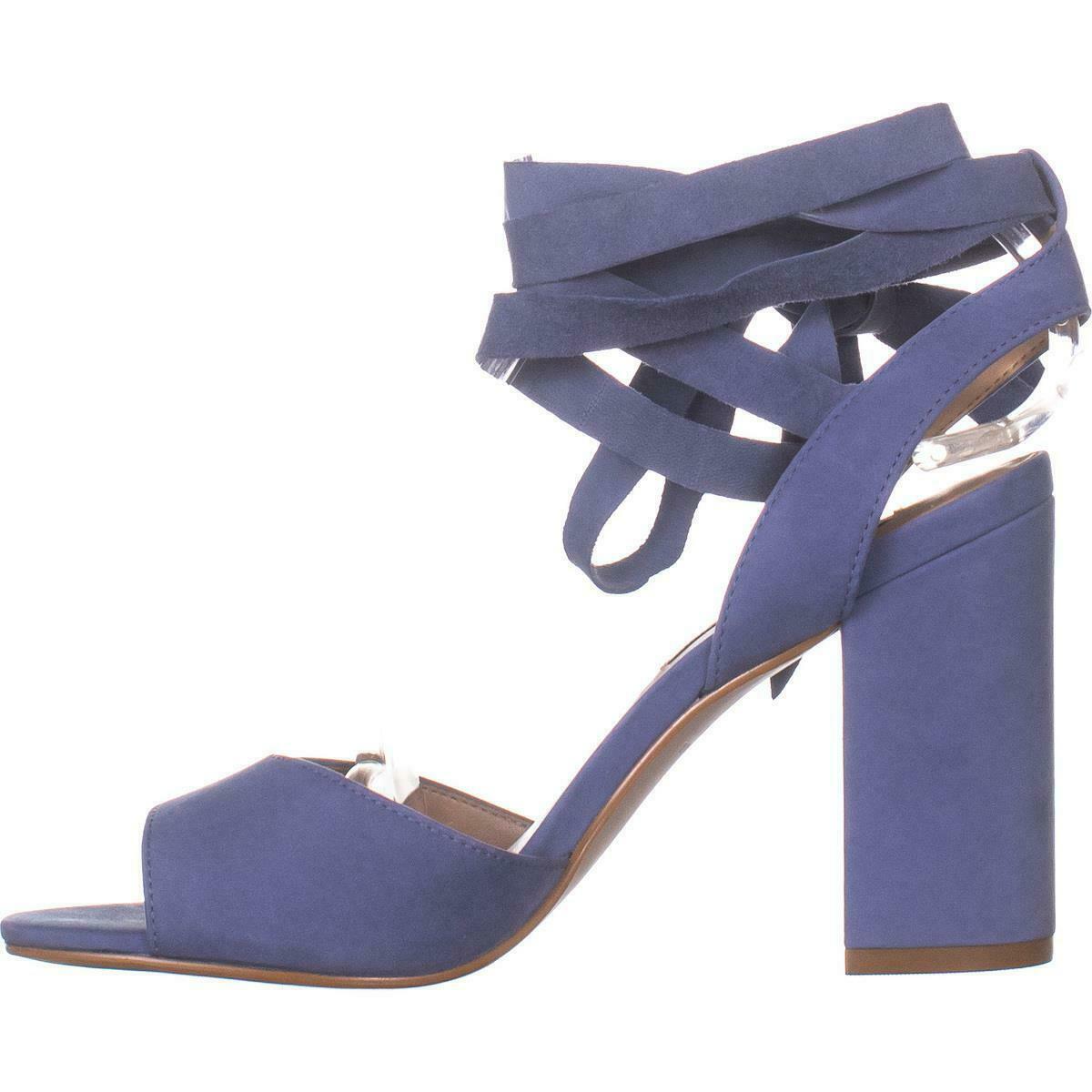 Steve Madden Kenny Ankle Strap Sandals, Blue Nubuck, 6.5 US image 3