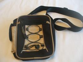 Aero Sport Beige Black Nylon Purse Adjustable Shoulder Strap - $29.70