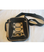 Aero Sport Beige Black Nylon Purse Adjustable Shoulder Strap - $29.70