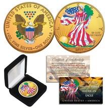 Combo 24K GOLD GILDED / COLOR 2019 American Silver Eagle 1 Oz .999 Coin ... - $46.71