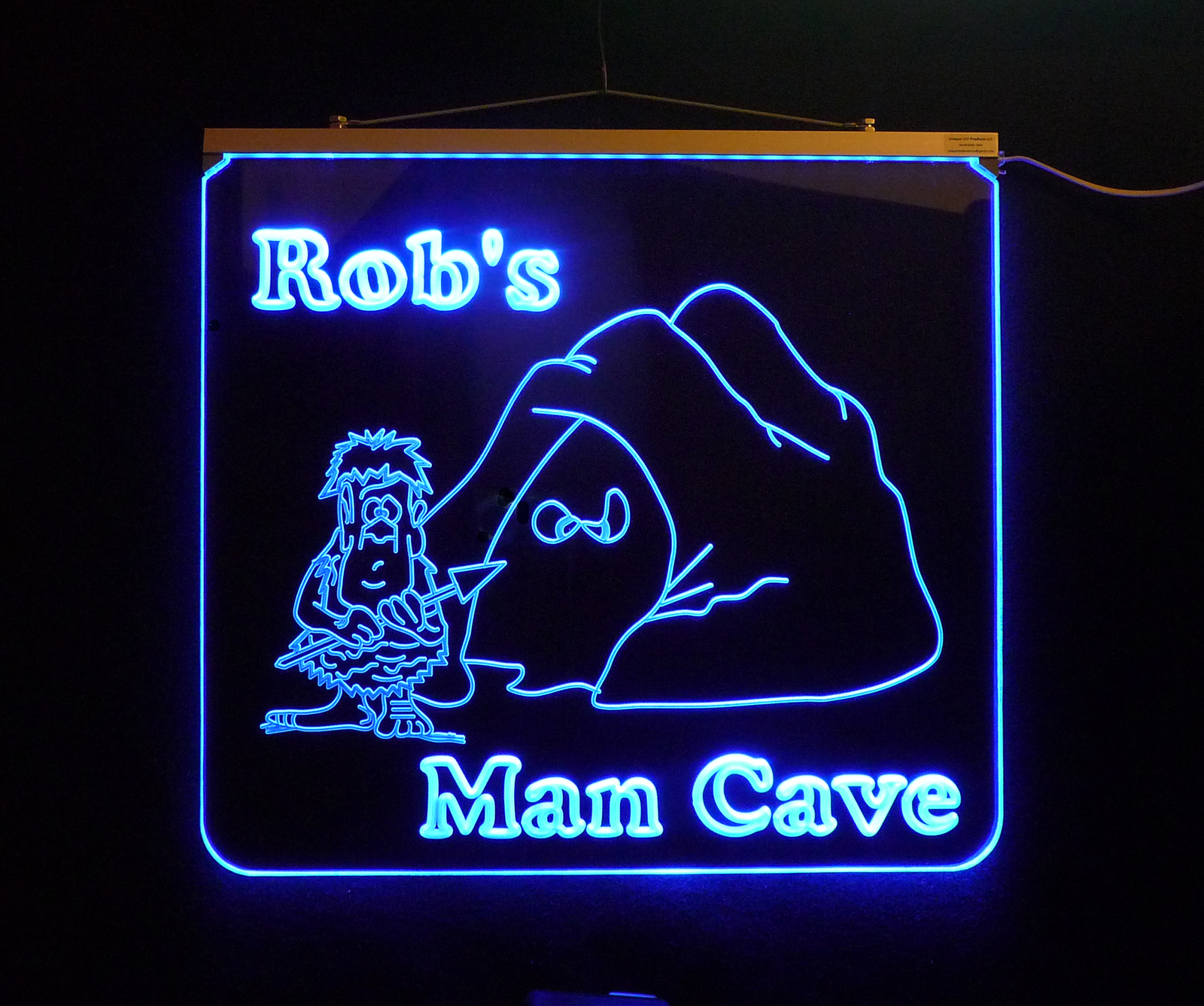Personalized LED Game Room, Man Cave, Garage, Hanging LED Sign