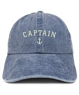 Trendy Apparel Shop Captain Anchor Embroidered Washed Cotton Adjustable ... - $18.99