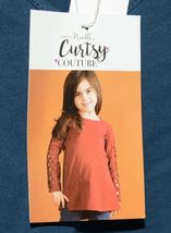 Simply Noelle Curtsy Couture Girls Cutout Long Sleeve Shirt Misty Blue Medium image 5