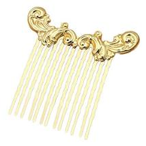 2 Pcs Sea Wave Hair Comb Chinese Style Metal Hair Clip 13 Teeth Vintage Hanfu Si