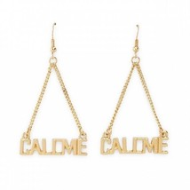 Nicki Minaj Women's Word Dangle Earrings Call Me stylish bold glam rock ... - $19.88