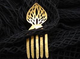 Ornamented Brass hair comb, hair pin - $20.00