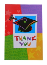 Way to Go Grad Thank You Blank Note Cards with Envelopes (8 Pack) - $1.99