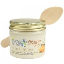 Florida Salt Scrubs Orange Body Feet Hands Bath Salt Scrub, 10.5 oz Jar - $19.99