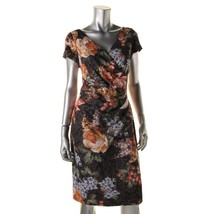 Adrianna Papell Black Multi Metallic Printed Party Cocktail Dress   8   $260 - $84.15