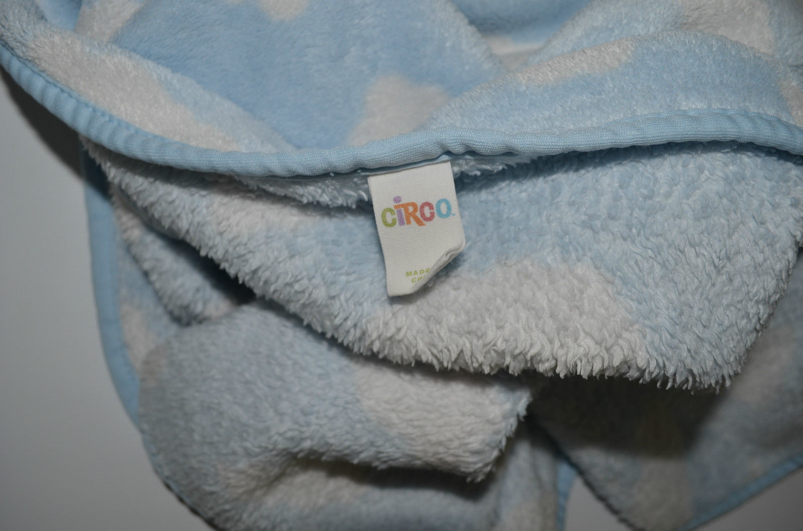 Baby Blanket Circo Target Blue Clouds White Soft Polyester