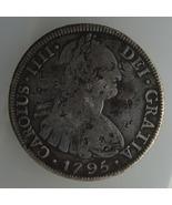 1795 Bolivia 8 Reales Carolus IIII Silver Coin ... - $250.00