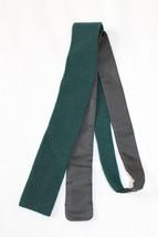 $175 Ermenegildo Zegna Duo Straight Edge Tie Silk Cashmere Nwt - $40.00