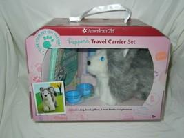 AMERICAN GIRL PEPPER'S TRAVEL CARRIER SET HUSKY PUPPY Never Removed! 2012 - $39.99