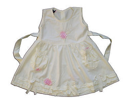 New Baby Girls Pale Yellow Floral Cotton Party Dress From 3-6 to 12-18 M... - $11.53