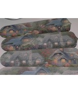 CUSTOM Ceiling Fan w /THOMAS KINKADE COTTAGE DECORATED BLADES - $99.99