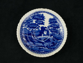 Copeland Spode Tower Flow Blue Demitasse Saucer Vintage Old Mark Gardoon... - $14.69