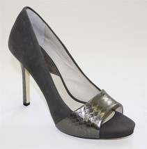 Women's Shoes Michael Kors LEIGHTON PEEP Stiletto Open Toe Pumps Suede G... - $88.20