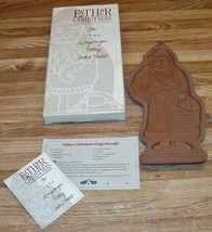Longaberger Pottery 1990 Father Christmas Cookie Mold W/Recipe/NEW IN OP... - $15.99
