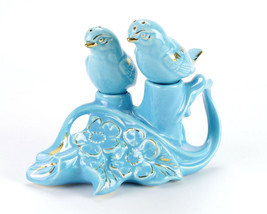 Pearl China Blue Love Birds Dogwood Branch Salt and Pepper Shaker Set, V... - $29.40
