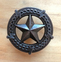 Set of 6 Star with Barbwire Drawer Pull, Oil Rubbed Bronze in Color, - $19.79