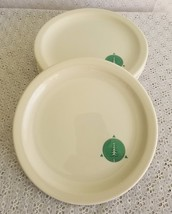 6 Vintage Syracuse China Unknown Advertising Tree Circle Triangle Dinne... - $49.49