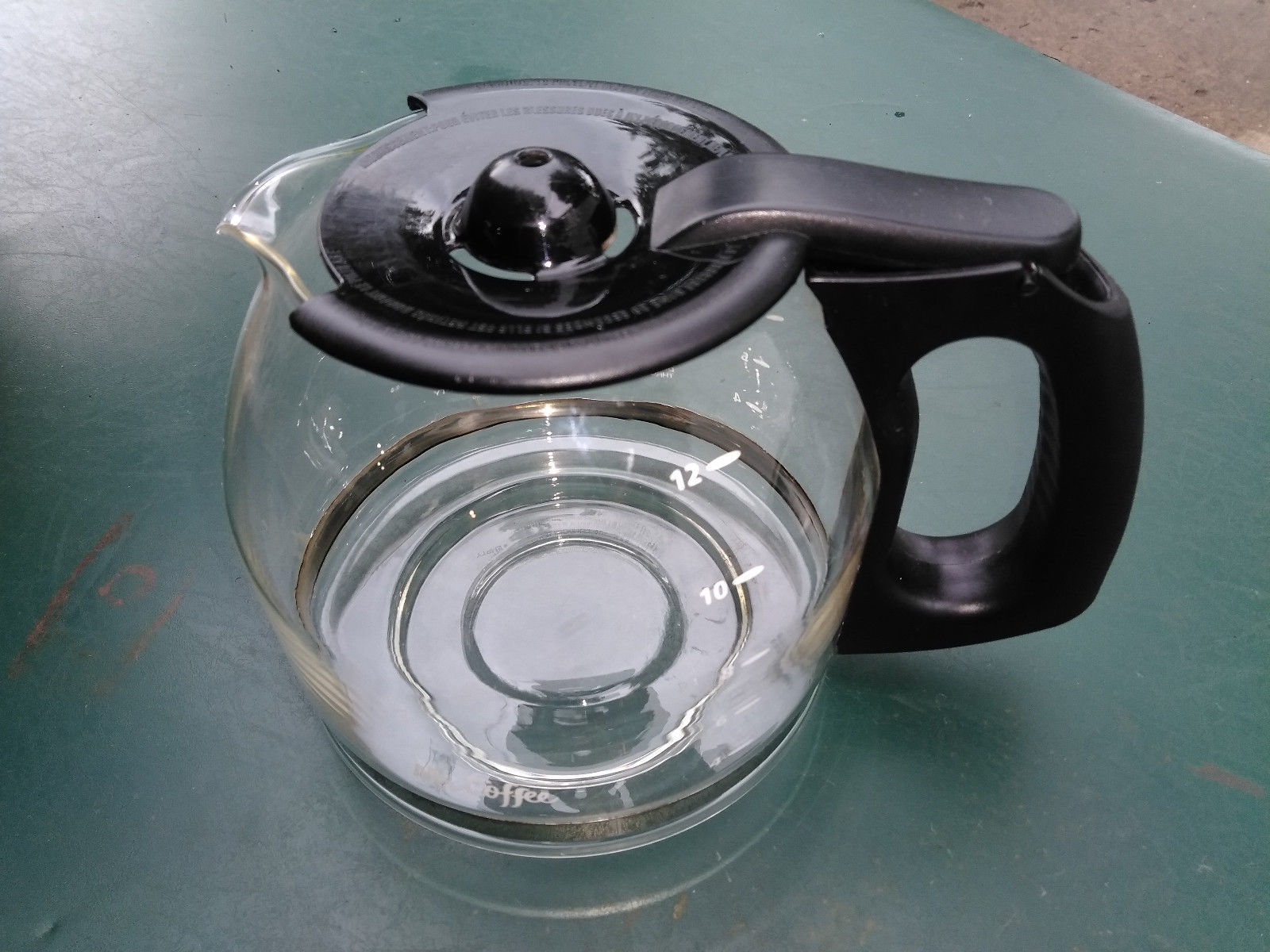 "Primary image for 8OO72  MR COFFEE 12 CUP COFFEEPOT, 8"" X 6"" X 6"" +/- OVERALL, VERY GOOD CONDITION"