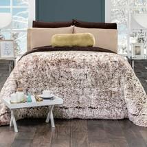 Brown Faux-Fur Thick Soft Wadding Manchas Cafe Platinum Super Soft Blanket - $84.10+
