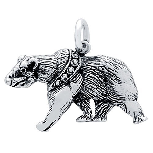 925 Sterling Silver Nickel Free Charms for Charm Bracelets (Bear)
