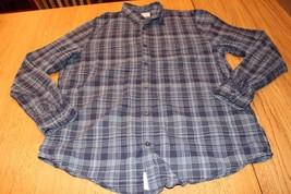 M3935 Mens RALPH LAUREN POLO Blue Plaid Cotton BUTTON UP SHIRT Dress XL - $9.74