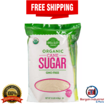Wellsley Farms Organic Cane Sugar Unrefined Gluten Free Sweetener 10 lb Bag - $31.35