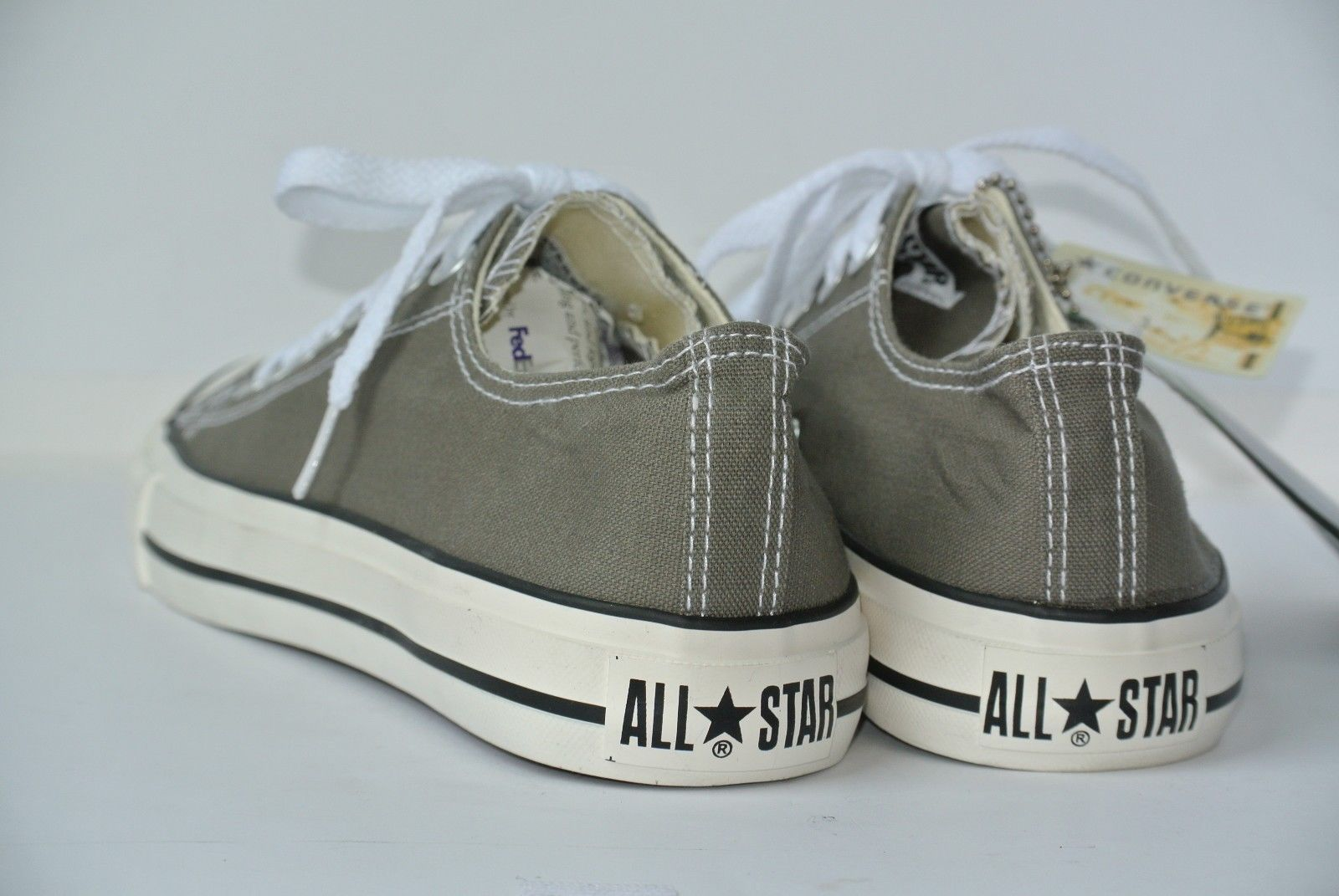 NEW Converse All Star Chuck Taylor Low Top Gray Womens 8.5 Mens 7 Canvas  Shoes f99561b40