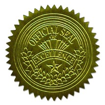 Geographics Gold Embossed Foil Seal, 100 per Pack 20014 - $10.29