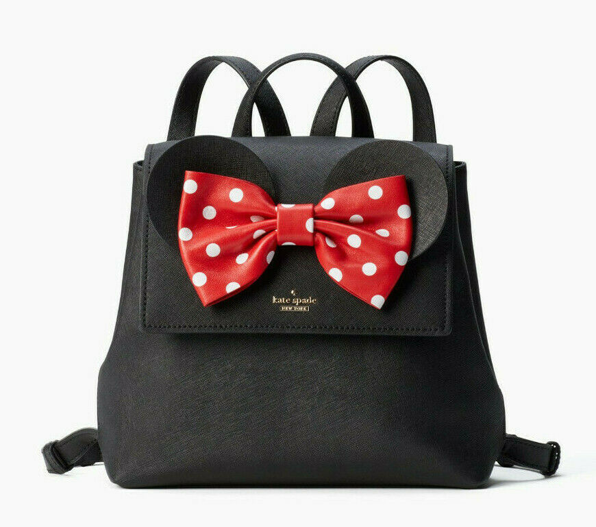 Primary image for Kate Spade x minnie mouse small neema Bow Backpack ~NWT~ Black