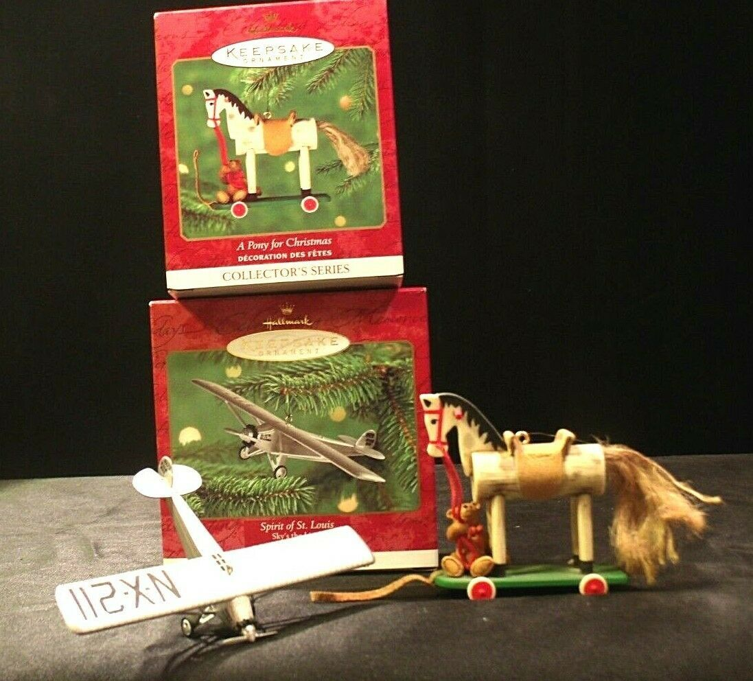 Hallmark Handcrafted Ornaments AA-191775A Collectible (2 pieces )