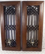 """Vintage Syroco Wall Sconces With Candle Holder 20"""" Tall Set of 2 - $18.76"""
