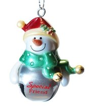 "Jingle Bell Ornament ""Specialt Friend"" Snowman - $145,43 MXN"